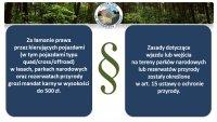 Łamanie prawa przez kierujących w lasach, parkach narodowych i rezerwatach przyrody